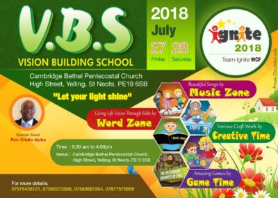 VBS Cmabridge Flyer